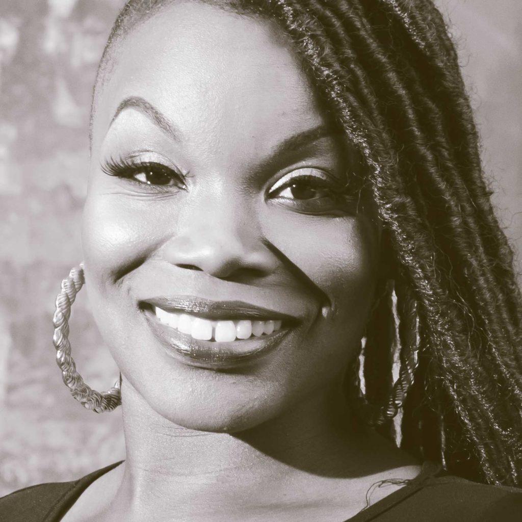 ebony woman with dreadlocks